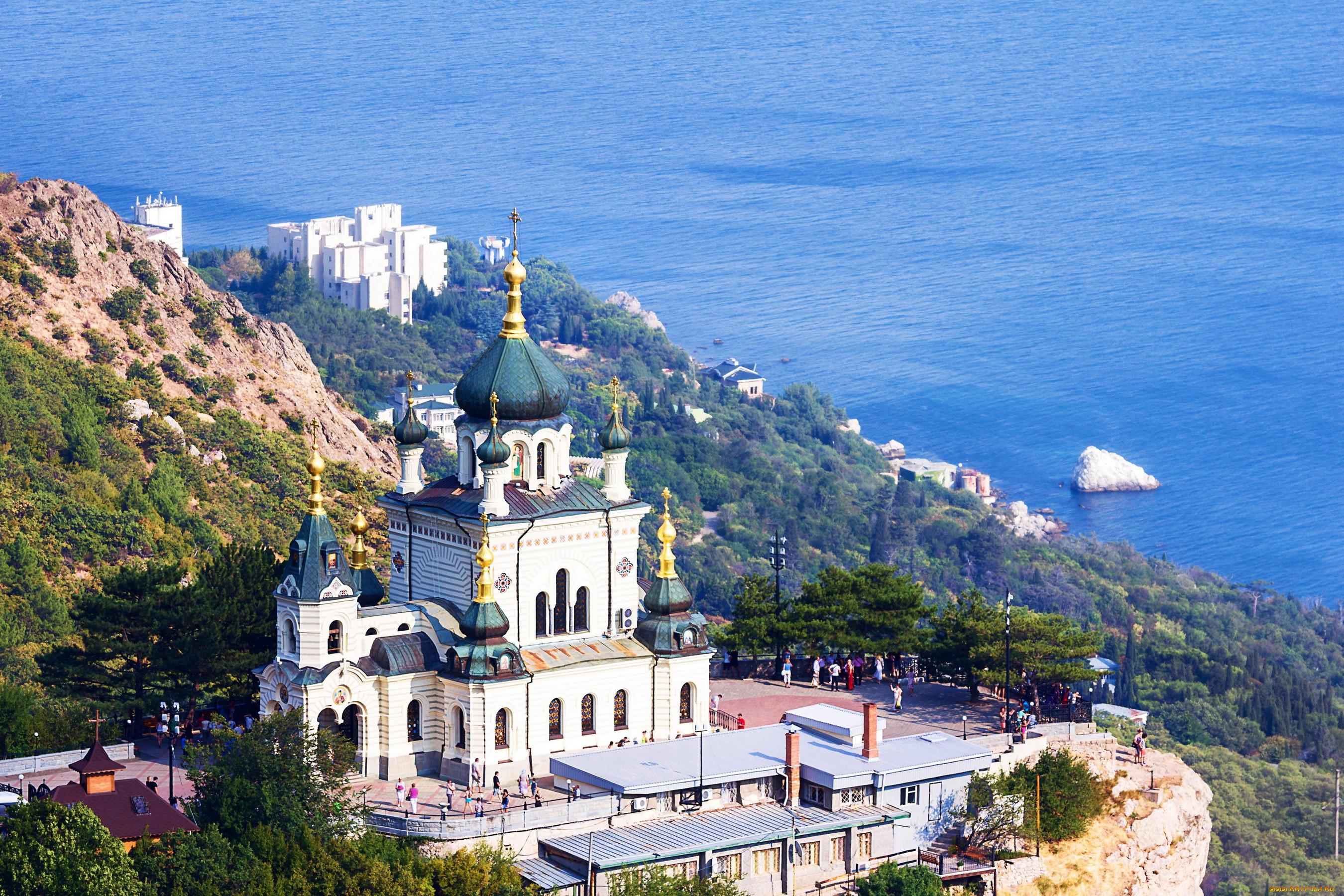 Обои Форосская церковь, Крым. Города foto 6